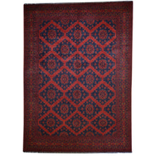 Load image into Gallery viewer, Hand-Knotted Afghani Turkoman Tribal Wool Handmade Rug (Size 6.6 X 9.9) Brral-2634