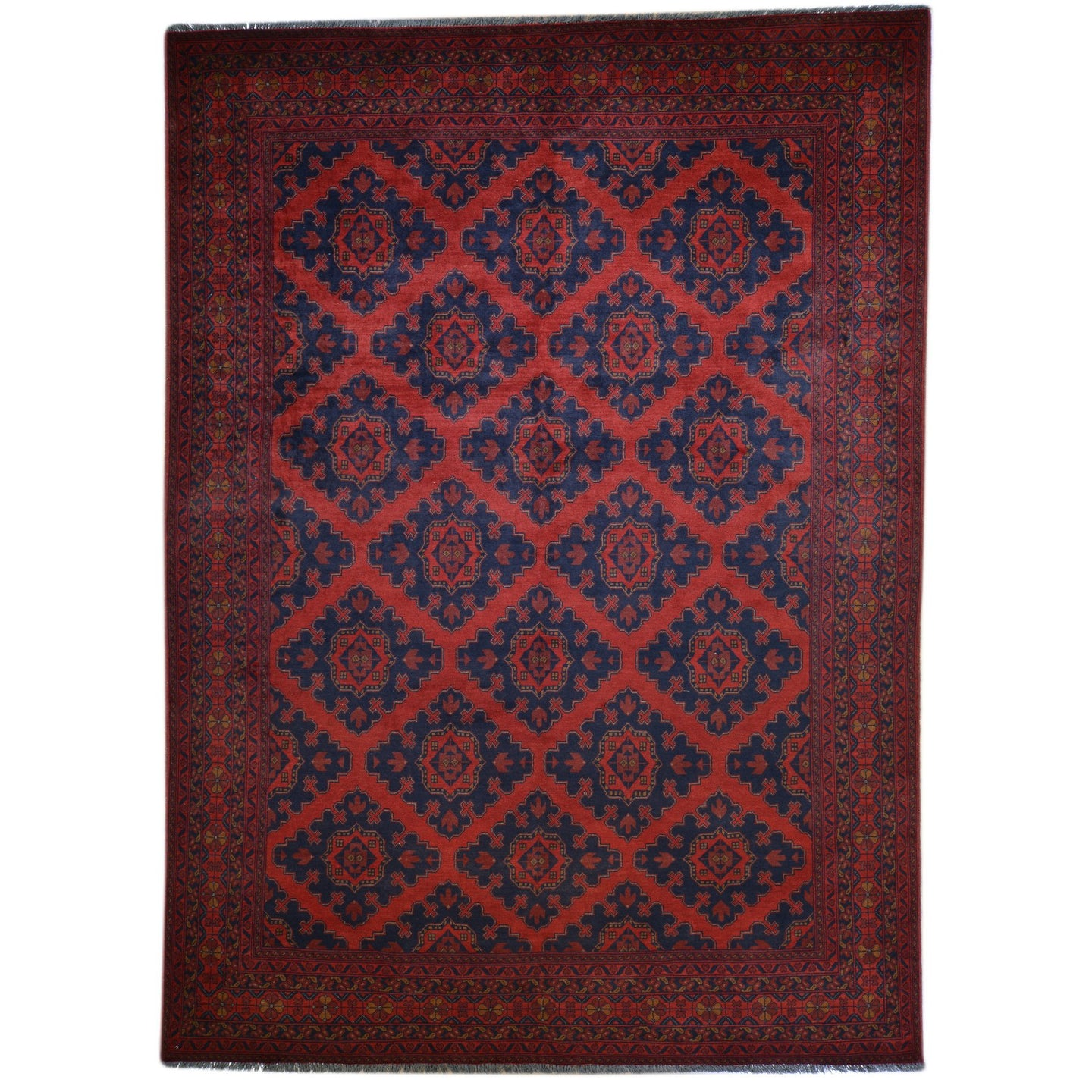 Hand-Knotted Afghani Turkoman Tribal Wool Handmade Rug (Size 6.6 X 9.9) Brral-2634