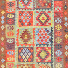 Load image into Gallery viewer, Hand-Woven Tribal Geometric Design Kilim Wool Rug (Size 5.9 X 8.3) Brral-2949