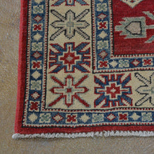 Load image into Gallery viewer, Hand-Knotted Kazak Geometric Design Handmade Wool Rug (Size 3.3 X 4.8) Brrsf-39