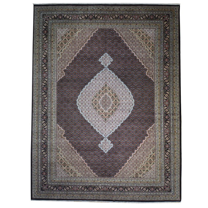 Hand-Knotted Classic Design Handmade Rug (Size 10.0 X 15.0) Brrsf-567