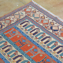 Load image into Gallery viewer, Hand-Woven Soumak Tribal Afghan Handmade Rug (Size 6.1 X 7.7) Brrsf-6057