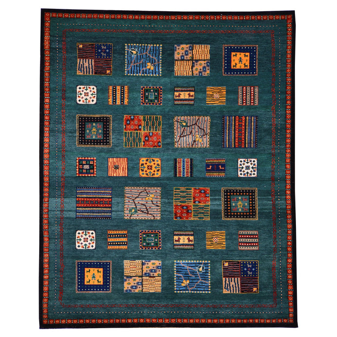 Hand-Knotted Modern Gabbeh Design Wool Rug (Size 5.7 X 7.9) Brrsf-6129