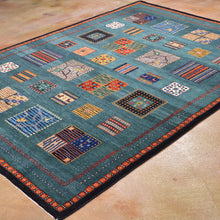 Load image into Gallery viewer, Hand-Knotted Modern Gabbeh Design Wool Rug (Size 5.7 X 7.9) Brrsf-6129