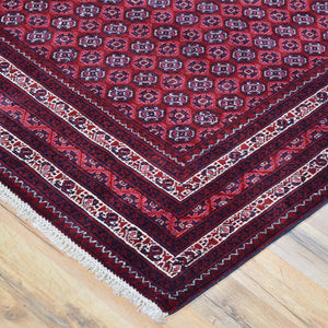 Hand-Knotted Fine Turkoman Bokhara Wool Handmade Rug (Size 5.2 X 8.0) Brrsf-720