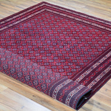 Load image into Gallery viewer, Hand-Knotted Fine Turkoman Bokhara Wool Handmade Rug (Size 5.2 X 8.0) Brrsf-720