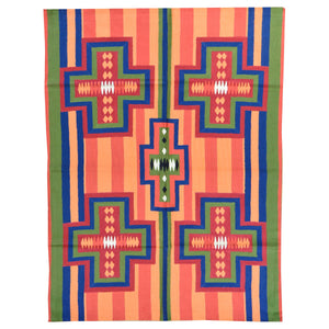 Chain-Stitched Kashmir Southwestern Handmade Wool Rug (Size 4.0 X 6.0) Brrsf-918