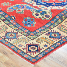Load image into Gallery viewer, Hand-Knotted Kazak Traditional Tribal Design Wool Rug (Size 8.8 X 11.8) Brrsf-1179
