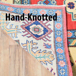 Hand-Knotted Kazak Traditional Tribal Design Wool Rug (Size 8.8 X 11.8) Brrsf-1179