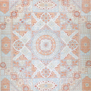 Hand-Knotted Mamluk Egyptian Design Handmade Wool Rug (Size 8.10 X 11.10) Brrsf-1203