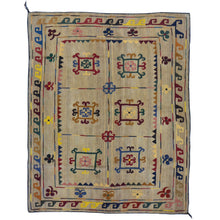 Load image into Gallery viewer, Hand-Woven Afghan Suzani Handmade Flatweave Tribal Wool Rug (Size 4.10 X 6.6) Brrsf-1398