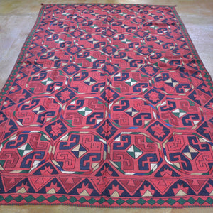 Hand-Woven Afghan Tent Band Suzani  Handmade Textile/Rug (Size 5.6 X 9.3) Brrsf-1500