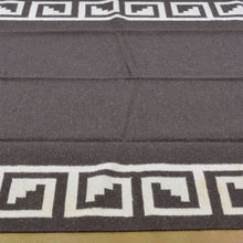 Load image into Gallery viewer, Charcoal Modern Flatweave Handmade Wool Area Rug (Size 6.1 X 9.1) Brrsf-1527