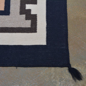 Two Grey Hill Southwestern Design Wool Handmade Rug (Size 6.0 X 9.0) Brrsf-1539