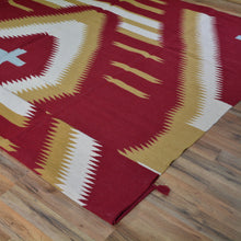 Load image into Gallery viewer, Hand-Woven Reversible Dhurrie Southwestern Design Rug (Size 8.0 X 10.1) Brral-3456