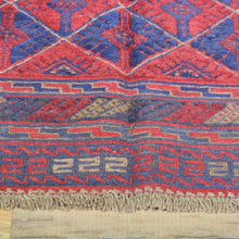Load image into Gallery viewer, Hand-Knotted And Soumak Square Tribal Afghan Soumak Wool Handmade Rug (Size 3.8 X 4.1) Brral-3573