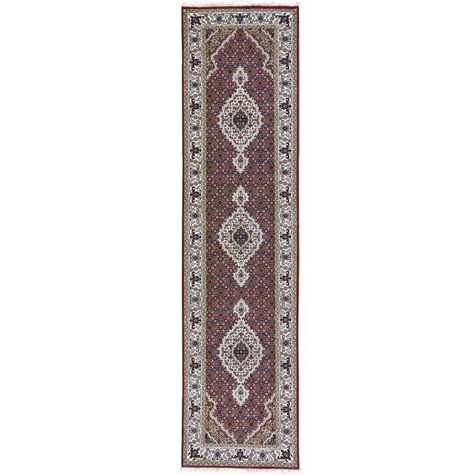 Hand-Knotted Indo Tabriz Design Handmade Wool Rug (Size 2.7 X 10.0) Brral-3864