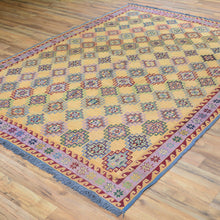 Load image into Gallery viewer, Soumak Afghan Tribal Handmade Wool Larkabi Rug (Size 5.8 X 7.7) Brral-4092