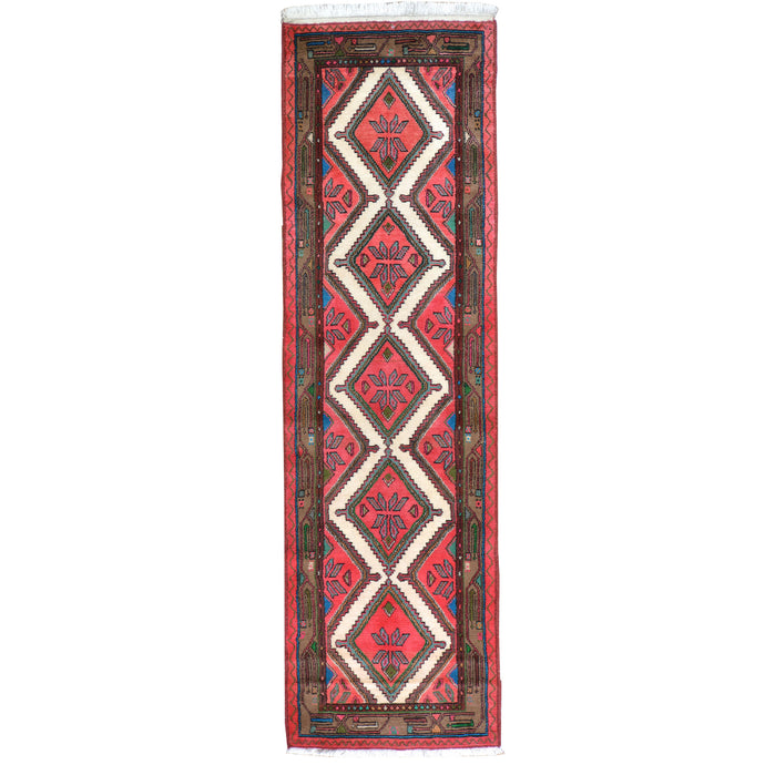 Hand-Knotted Vintage Tribal Design Handmade 100% Wool Rug (Size 2.8 X 9.1) Brral-4593