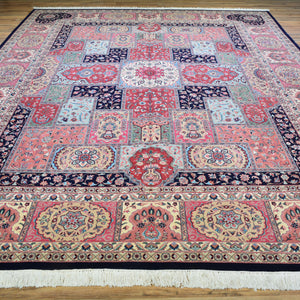 Hand-Knotted Fine Bakhtiari Persian Design Handmade Wool Rug (Size 9.5 X 12.5) Brral-4791
