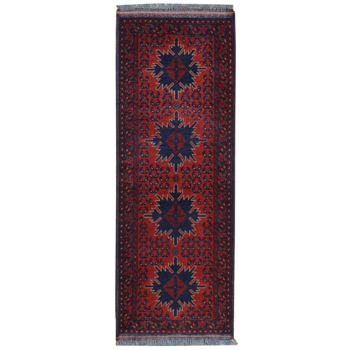 Hand-Knotted Turkmen Tribal Handmade 100% Wool Rug (Size 1.10 X 5.1) Cwral-4848