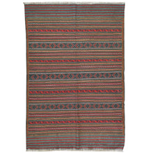 Load image into Gallery viewer, Soumak Tribal Lagharee Tribal Design Handmade Wool Rug (Size 3.1 X 4.7) Brral-4908