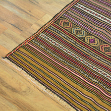 Load image into Gallery viewer, Soumak Afghan Lagharee Tribal Design Handmade Wool Rug (Size 3.4 X 4.7) Brral-4956