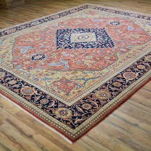 Hand-Knotted Fine Traditional Classic Design Wool Rug (Size 8.1 X 9.10) Brral-5526