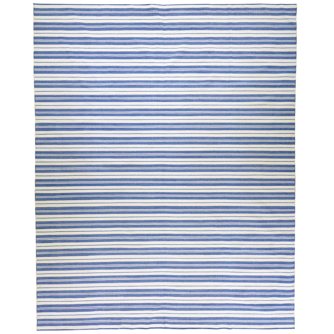 Hand-Woven Cotton Striped Design Handmade Kilim Rug (Size 8.0 X 10.0) Cwral-5595