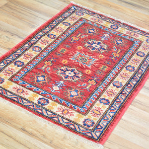 Hand-Knotted Caucasian Tribal Kazak Handmade Wool Rug (Size 2.0 X 3.0) Cwral-5754