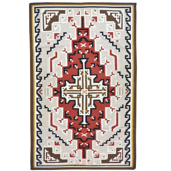 Hand-Woven Navajo Style Southwestern Design Rug (Size 5.2 X 8.7) Cwral-5955