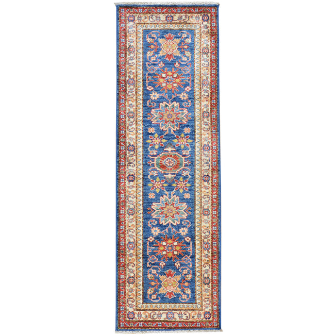 Hand-Knotted Super Kazak Design Handmade Wool Rug (Size 2.0 X 6.1) Cwral-6096