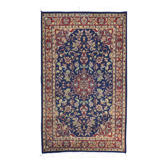 Hand-Knotted T.Wash Mahal Design Wool Rug (Size 3.6 X 5.10) Cwral-639