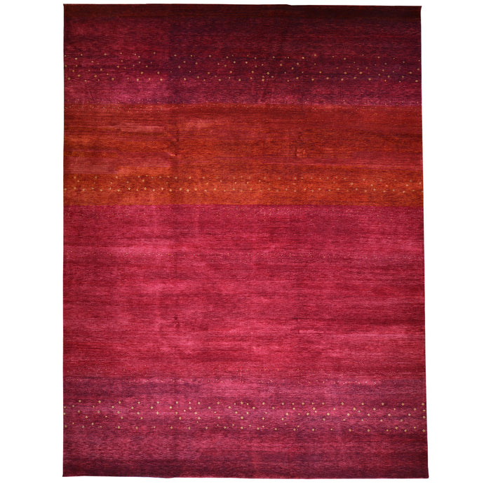 Hand-Knotted Contemporary Modern Gabbeh Wool Handmade Rug (Size 9.0 X 11.9) Cwral-6732