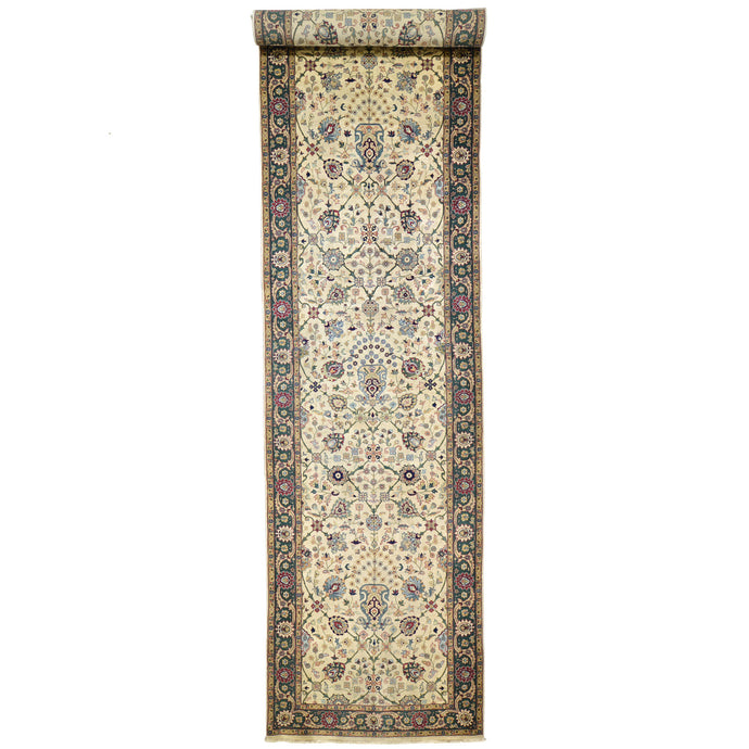 Handmade Traditional Design 100% Wool Wide Runner Rug (Size 4.0 X 15.10) Cwral-6864