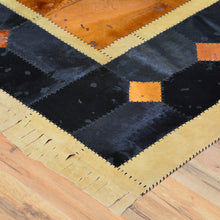 Load image into Gallery viewer, Turkish Cowhide Patchwork Hand Stitched Rug (Size 5.7 X 7.8) Cwral-7173