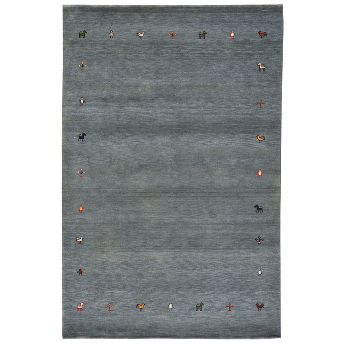 Hand-Knotted Modern Gabbeh Wool Handmade Rug (Size 4.0 X 6.0) Cwral-7230