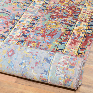 Hand-Knotted Broken Design Handmade Wool/Silk Rug (Size 10.0 X 13.9) Cwral-7425
