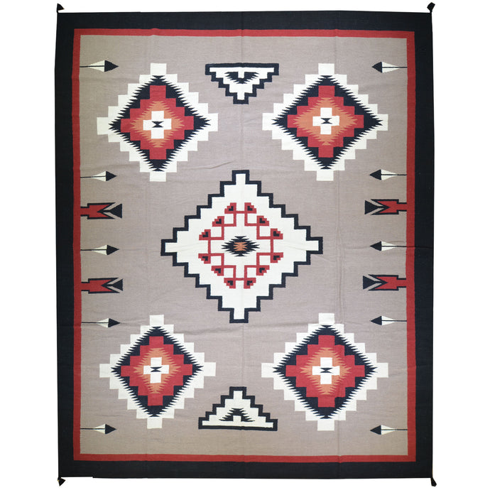 Hand-Woven Navajo Style Southwestern Design Rug (Size 12.0 X 14.7) Cwral-7641