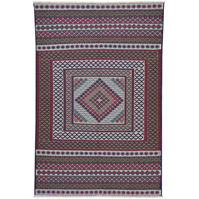 Soumak Fine Tribal Traditional Handmade Wool Rug (Size 3.11 X 6.0) Cwral-7680