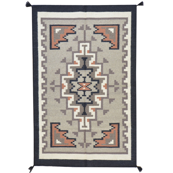 Hand-Woven Flatweave Navajo Style Handmade Wool Rug (Size 3.10 X 6.1) Cwral-7725