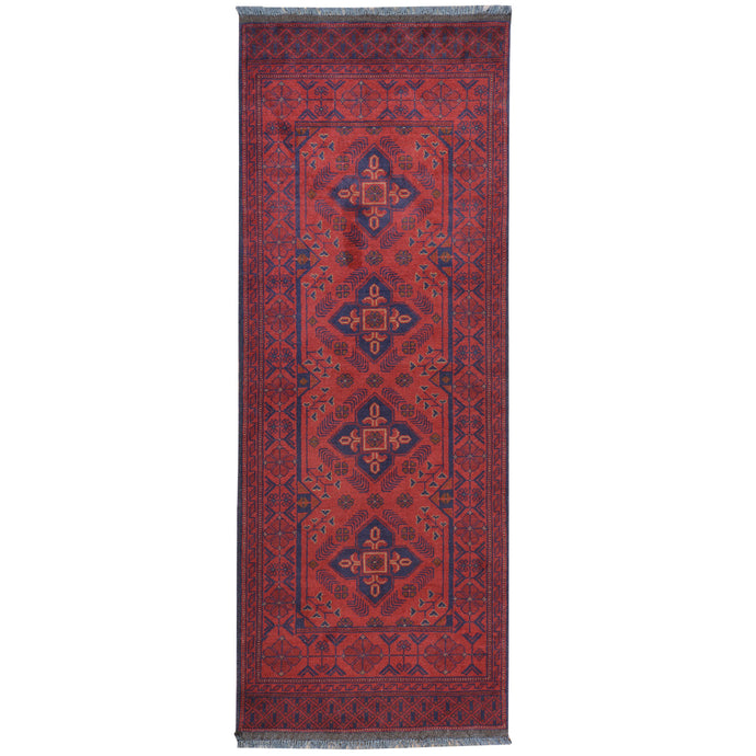 Hand-Knotted Tribal Khal Mohammadi Handmade Wool Rug (Size 2.6 X 6.7) Cwral-7758