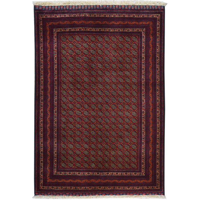 Hand-Knotted Fine Khawaja Roshani Wool Handmade Rug (Size 3.4 X 4.10) Cwral-7782