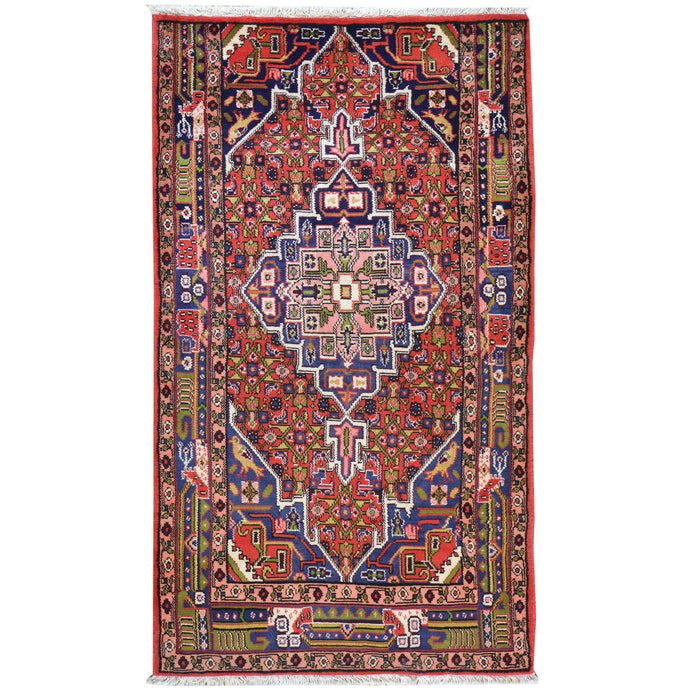 Hand-Knotted Oriental Persian Tribal Wool Rug (Size 3.5 X 5.11) Cwral-7806