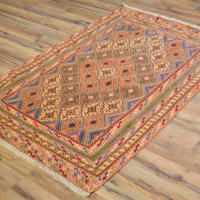 Load image into Gallery viewer, Hand-Knotted And Soumak Fine Oriental Tribal Afghan Rug (Size 3.0 X 4.6) Cwral-7830