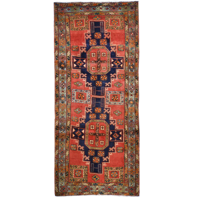 Hand-Knotted Persian Ardabil Handmade Authentic Wool Rug (Size 4.8 X 11.0) Cwral-7914