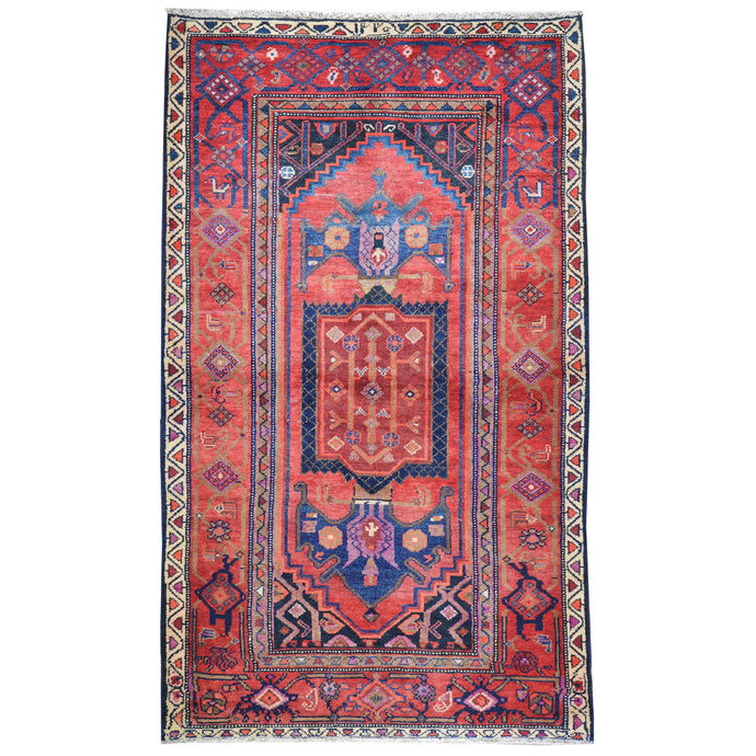 Hand-Knotted Oriental Persian Tribal Handmade Wool Rug (Size 4.6 X 7.5) Cwral-7917
