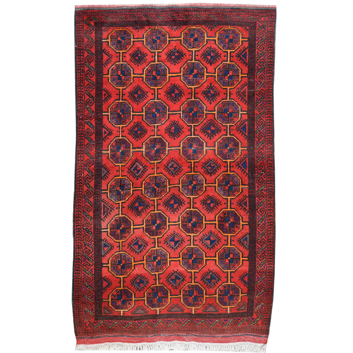 Hand-Knotted Turkmen Handmade Tribal Traditional Rug (Size 3.4 X 5.10) Cwral-7941