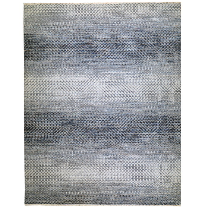 Hand-Knotted Modern Design Handmade Wool Rug (Size 9.3 X 11.8) Cwral-7974