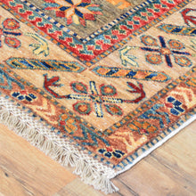 Load image into Gallery viewer, Hand-Knotted Fine Oriental Super Kazak Design Wool Rug (Size 4.0 X 6.0) Cwral-7992
